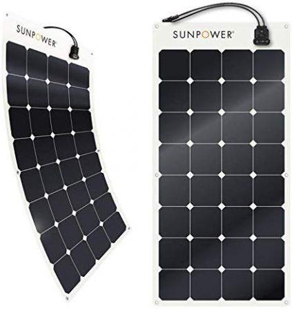 SunPower® 100 Watt Flexible Monocrystalline High Efficiency Solar Panel