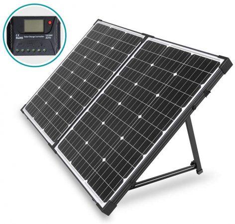 HQST 100 Watt-12V Portable Folding Solar Panel