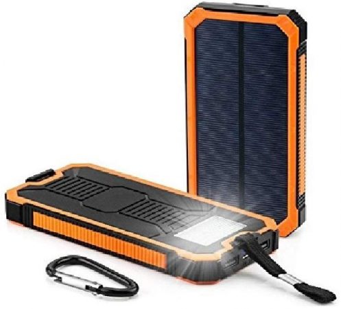 Dualpow Portable Dual USB Solar Battery Charger 30,000mAh
