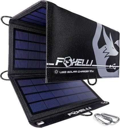 Foxelli Dual USB Solar Charger 10W