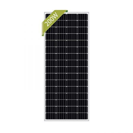 Newpowa 200W Monocrystalline 200 Watt 12V Solar Panel High Efficiency Mono Module RV Marine Boat Off Grid