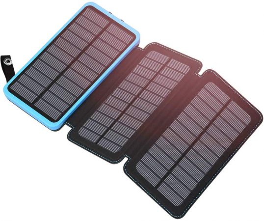 Hiluckey Portable Solar Charger 24000mAh Solar Power Bank