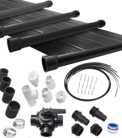 SunQuest 6-2X12 Solar Swimming Pool Heater Complete System with Roof Kits
