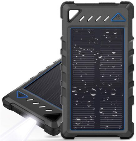 Portable Solar Charger, BEARTWO 10000mAh