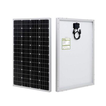 HQST 100 Watt Monocrystalline 12V Solar Panel