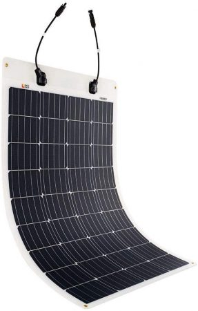 Richsolar 100 Watt 12 Volt Extremely ETFE Flexible Monocrystalline Solar Panel Ultra Lightweight