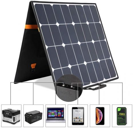 Kingsolar Solar Charger 100W Foldable Solar Panel