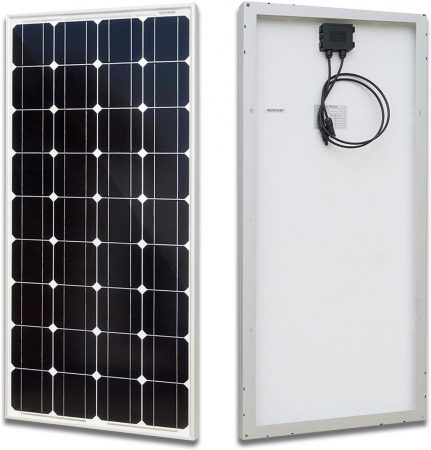 ECO-WORTHY 100 Watt Solar Panel 12 Volts Monocrystalline Solar Panel