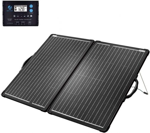 ACOPOWER 120W Portable Solar Panel Suitcase