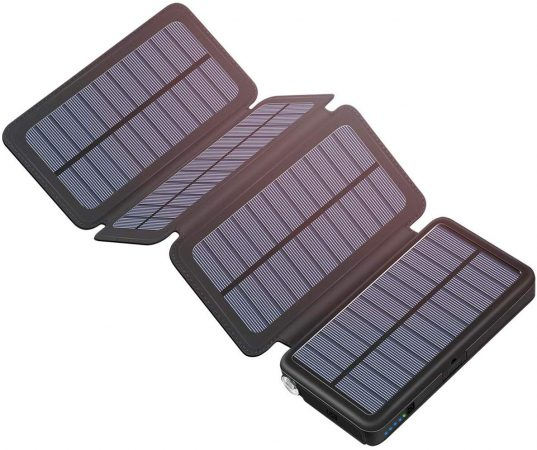 Tranmix Solar Charger 25000mAh Portable Power Bank