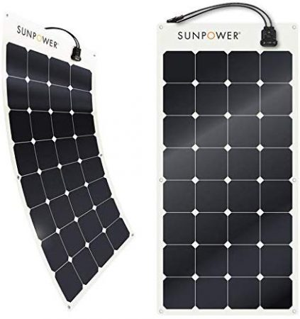 SunPower 100 Watt Flexible Monocrystalline High Efficiency Solar Panel