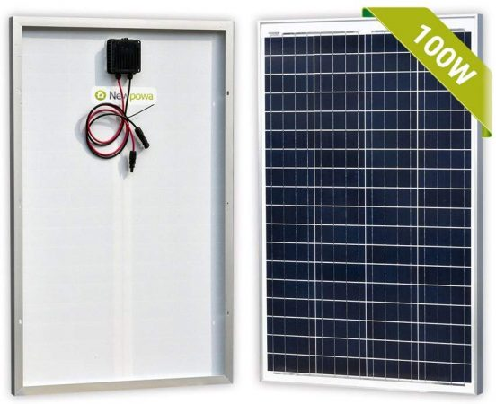 Newpowa 100 Watts 12 Volts Polycrystalline Solar Panel