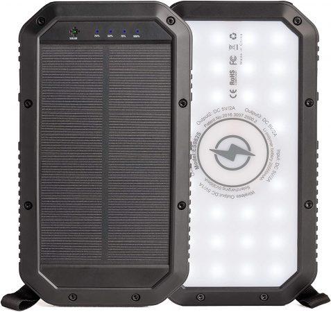 Sozo 20,000mAh Capacity Solar Phone Charger