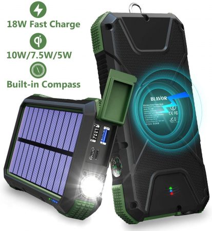 BLAVOR Solar Charger Power Bank 18W