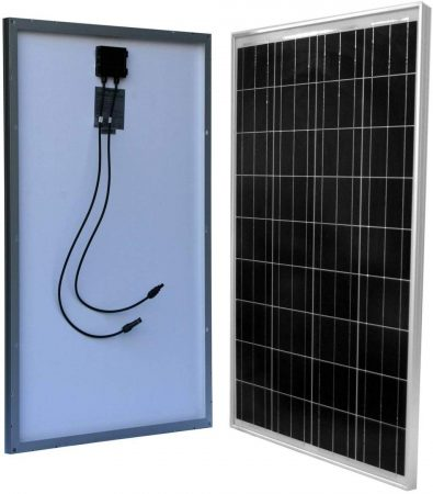 WindyNation 100 Watt 12 Volt Monocrystalline Solar Panel