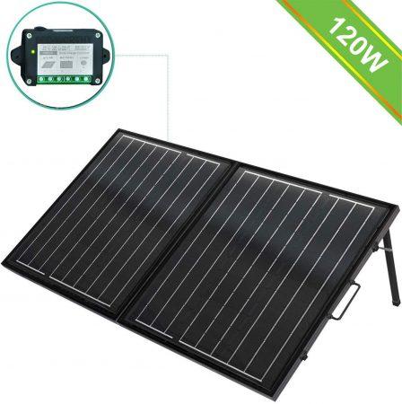 ECO-WORTHY 120-Watt 12 V Monocrystalline Portable Solar Panel Suitcase