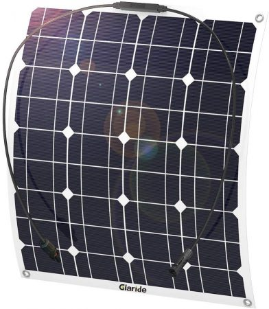 GIARIDE 50W 18V 12V Solar Panel Monocrystalline Cell Flexible