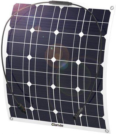 GIARIDE 50W 18V 12V Solar Panel Monocrystalline Cell Flexible