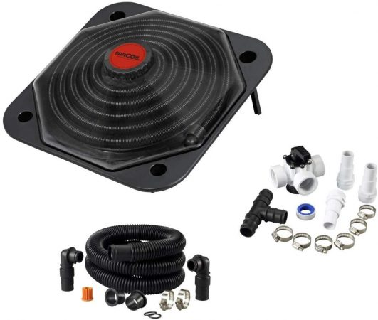 sunCOIL - Solar Heater for Above Ground Pools with Free Diverter Valve Kit